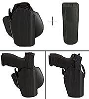 SafarilandホルスターSpringfield Armory XD xd-357xd-40xd-45xd-9xd-s XDS XDM 578–450–411Wide標準pro-fit GLS標準フレームmulti-fitパドル&ベルト右手、ブラック+ Ultimate Arms MAGポーチ