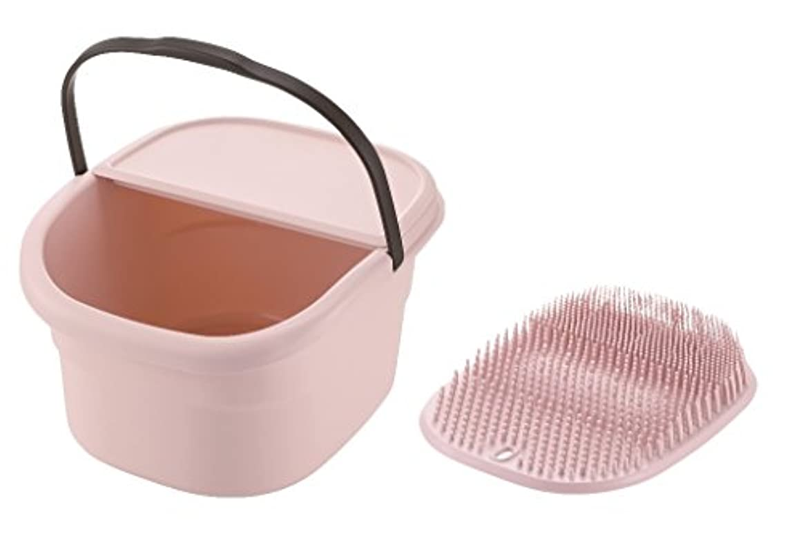 飲料大胆なお風呂を持っているリッチェル フットバスバケツ ピンク & フットケアマット ピンク 2点セット