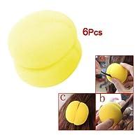 ローラー,SODIAL(R)6x黄色のスポンジボール ヘアスタイラー ローラー 女性用