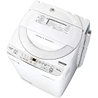 シャープ SHARP 全自動洗濯機 幅56.5cm(ボディ幅52.0cm) 6kg ステンレス穴なし槽 ホワイト系 ES-GE6C-W