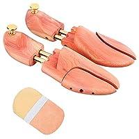 シューキーパーシューツリー靴磨きクロス付レッドシダー木製型崩れ防止メンズレディースXS