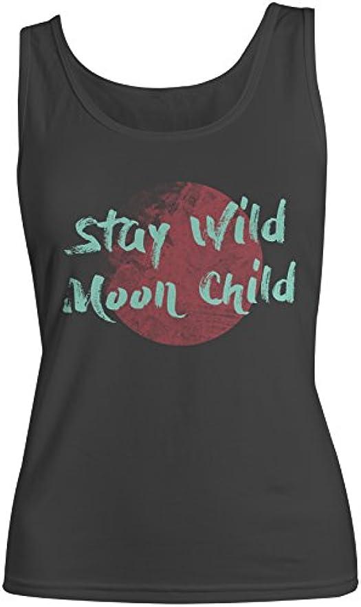 真鍮運営微生物Stay Wild Moon Child レディース Tank Top Sleeveless Shirt