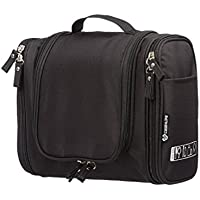 2913ec6dec Case4Life Black Hanging Travel Toiletry Bag Large Water Resistant Wash Bag  + Multiple Zipped Compartments -
