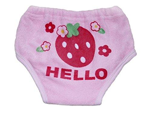 【Adamz.sp】 ベビー トレーニングパンツ 2枚組 6層 赤ちゃん トイレトレーニング (95, いちご・ピンク)
