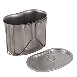 Rothco ハンゴウ G.I. Type Stainless Steel Canteen Cup with Lid[並行輸入品]