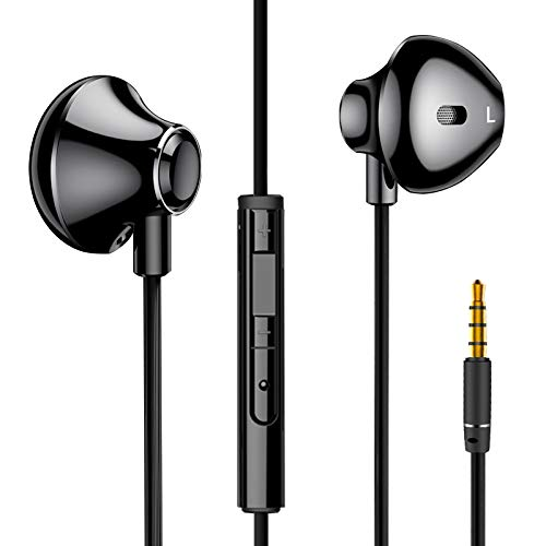 iHarbort ヘッドフォン イヤホン 通話可能 サウンドバッド 内蔵マイク付き 有線3.5 MM 心地抜群 高音質 リモコン付き サウンドバッド iPhone/Android/PCなどに対応