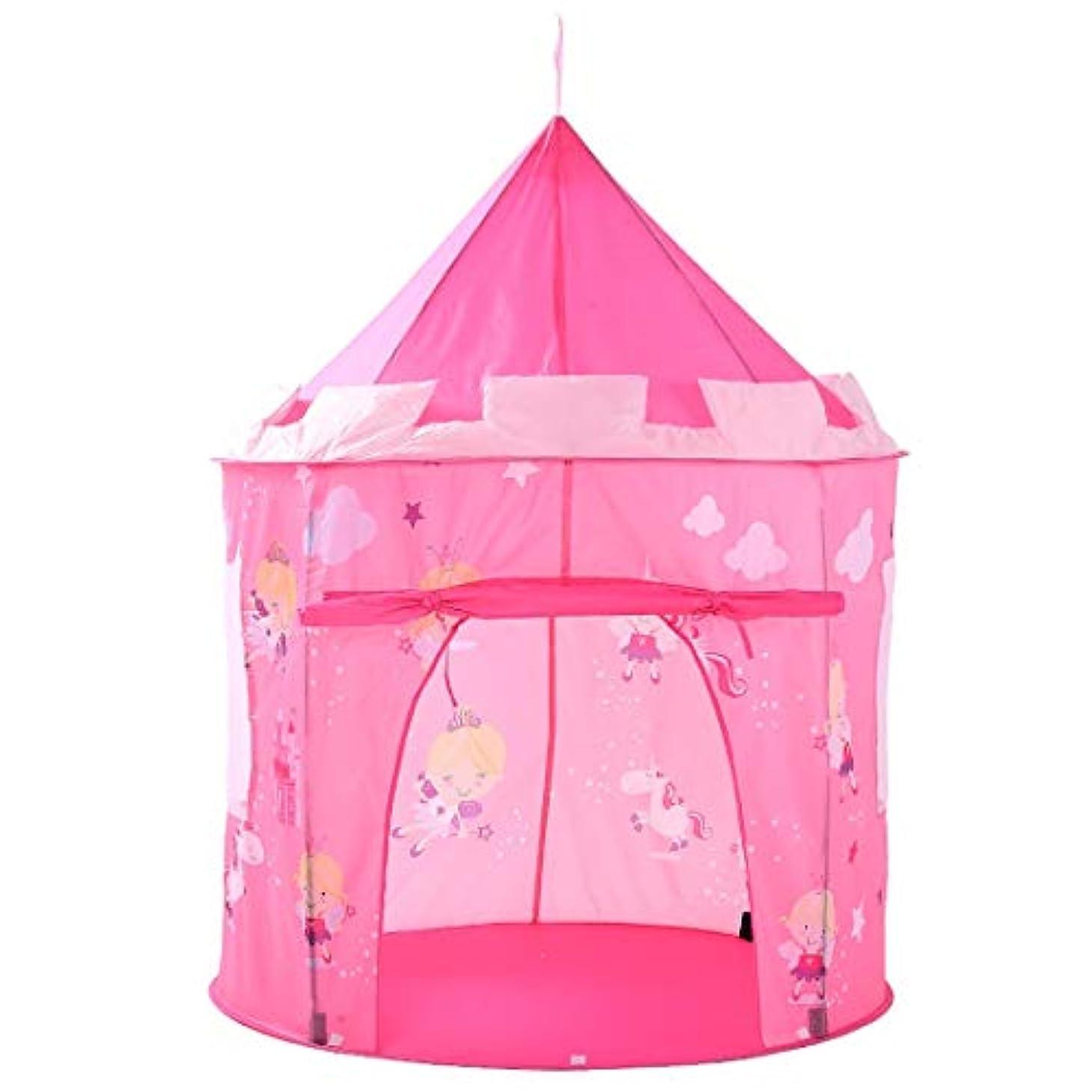 破裂料理終わらせる方朝日スポーツ用品店 ピンクの再生テントのエルフ子供の子供たちのための折り畳み式の屋内のおもちゃのプレイハウスプリント (色 : ピンク)