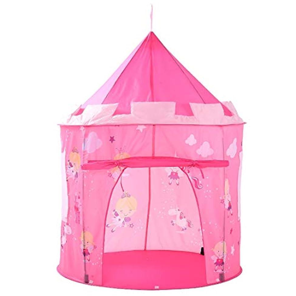 ワックスほかにエーカーKAKACITY ピンクの再生テントのエルフ子供の子供たちのための折り畳み式の屋内のおもちゃのプレイハウスプリント (色 : ピンク)