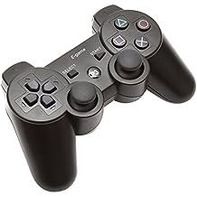 【E-game】 Playstation3 コントローラー ワイヤレス DUALSHOC3 (USB充電 振動対応) クロス & 日本語説明書 & 1年保証付き「ブラック」