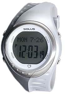 [ソーラス] SOLUS 腕時計 デジタル 心拍計測機能付 トレーニングウォッチ シルバー ユニセックス [国内正規品]
