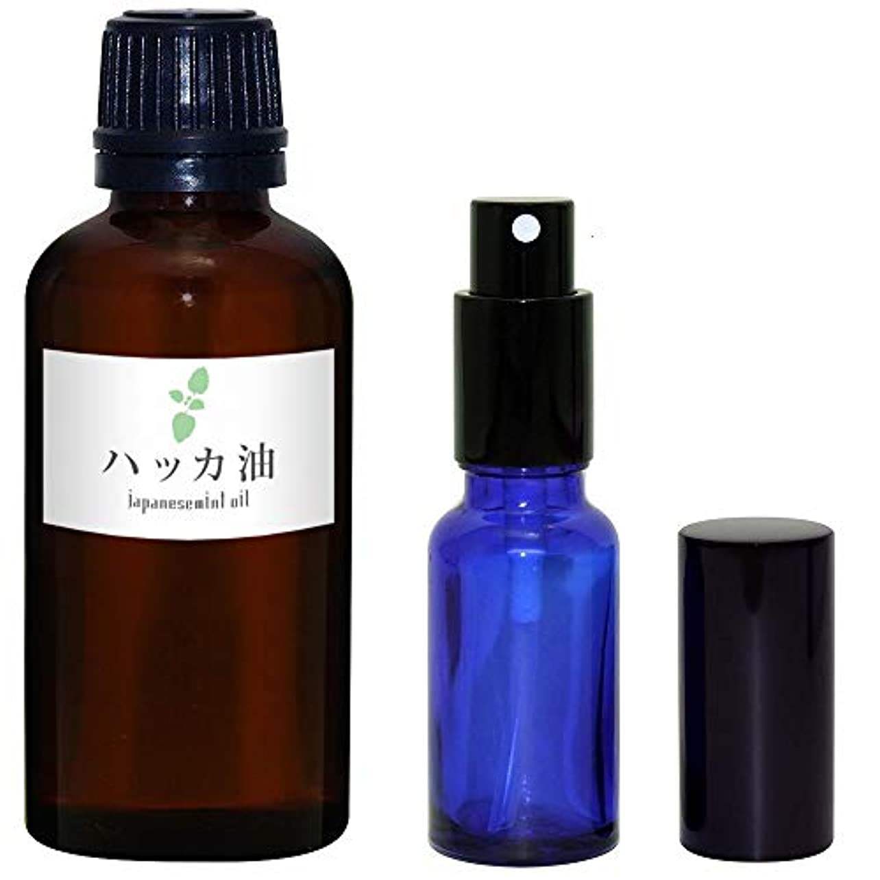 添加剤スペシャリスト熟考するガレージ?ゼロ ハッカ油 50ml(GZAK15)+ガラス瓶 スプレーボトル20ml/和種薄荷/ジャパニーズミント GSE535