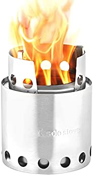 Solo Stove Lite - Portable Camping Hiking and Survival Stove | Powerful Efficient Wood Burning and Low Smoke | Gassification