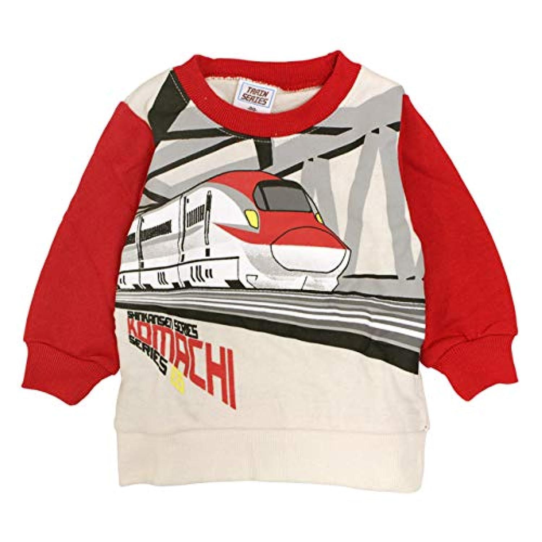 新幹線 スウェット トレーナー ベビー 長袖 男の子 裏毛 鉄道 電車 赤ちゃん 子供服