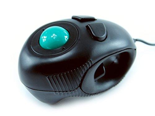 ハンドグリップ式 トラックボール 空中マウス , 光学式 フィンガーマウス ・ USB 有線 接続 ごろ寝マウス (トラックボール)