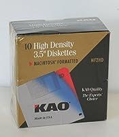 高密度3.5インチフロッピーディスクMacintoshフォーマットkao