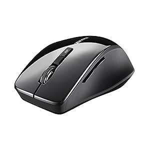 BUFFALO Bluetooth3.0対応 BlueLEDマウス 静音/5ボタン/DPI切り替えボタン ブラック BSMBB23SBK