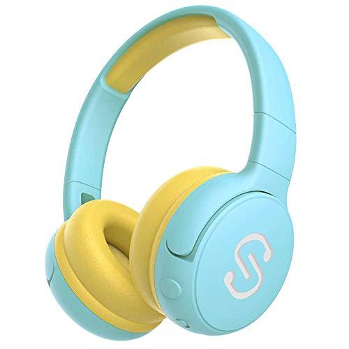 SoundPEATS Bluetooth ヘッドホン子供用85dB音量制御 聴力保護 折り畳み式 マイク内蔵 20時間 調整可能 イヤホン キッズ用 知育・学習 音楽/映画/語学勉強 [メーカー1年保証] 密閉型 柔らかい 可愛いデザイン 高音質 ヘッドホン かわいいBluetooth イヤホン ブルートゥース ヘッドホンイヤホン Bluetooth ヘッドホン ワイヤレス イヤホン キッズ向け Kids (ブルー)