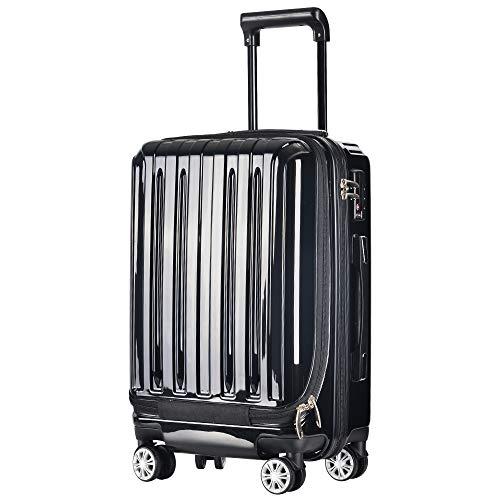 TANOBI 前ポケット付登場 スーツケース キャリーケース...