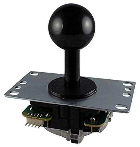 三和電子 基板タイプジョイスティックレバー 黒 JLF-TP-8YT-SK-K