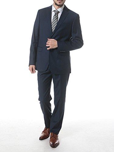 (ヴェルサーチ コレクション) VERSACE COLLECTION ウール100% ヘリンボーン シングル 2ツ釦 ノータック スーツ [【VC100101VT1061】] [並行輸入品]