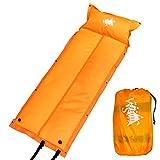 White Seek 自動膨張式 エアーマット キャンピングマット エアマット キャンプマット (Orange)