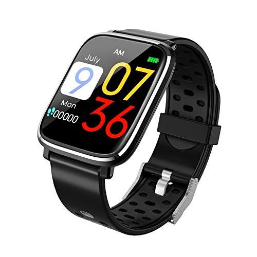 スマートウォッチ 1.3インチHD大画面 血圧測定 心拍計 活動量計 スマートブレスレット 腕時計 活動量計 Line/Facebook/Twitter/Skype 着信通知 ストップウォッチ 睡眠検測 座りがち注意 IP67防水 水泳可能 多機能腕時計 iphone Android 対応 (ブラック)