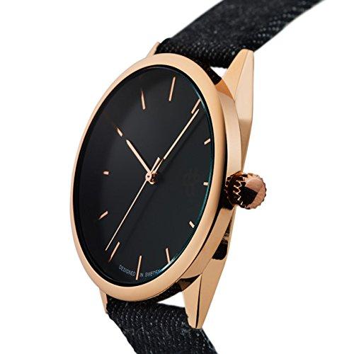 CHPO (チーポ) 腕時計 MAKE EQUAL 38mm デニム ブラック / ローズゴールド メンズ レディース 14234FF [正規輸入品]