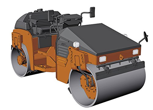 Hasegawa 1/35 construction machine series Hitachi construction machine tandem vibrating roller ZC 50T-5 plastic 66101
