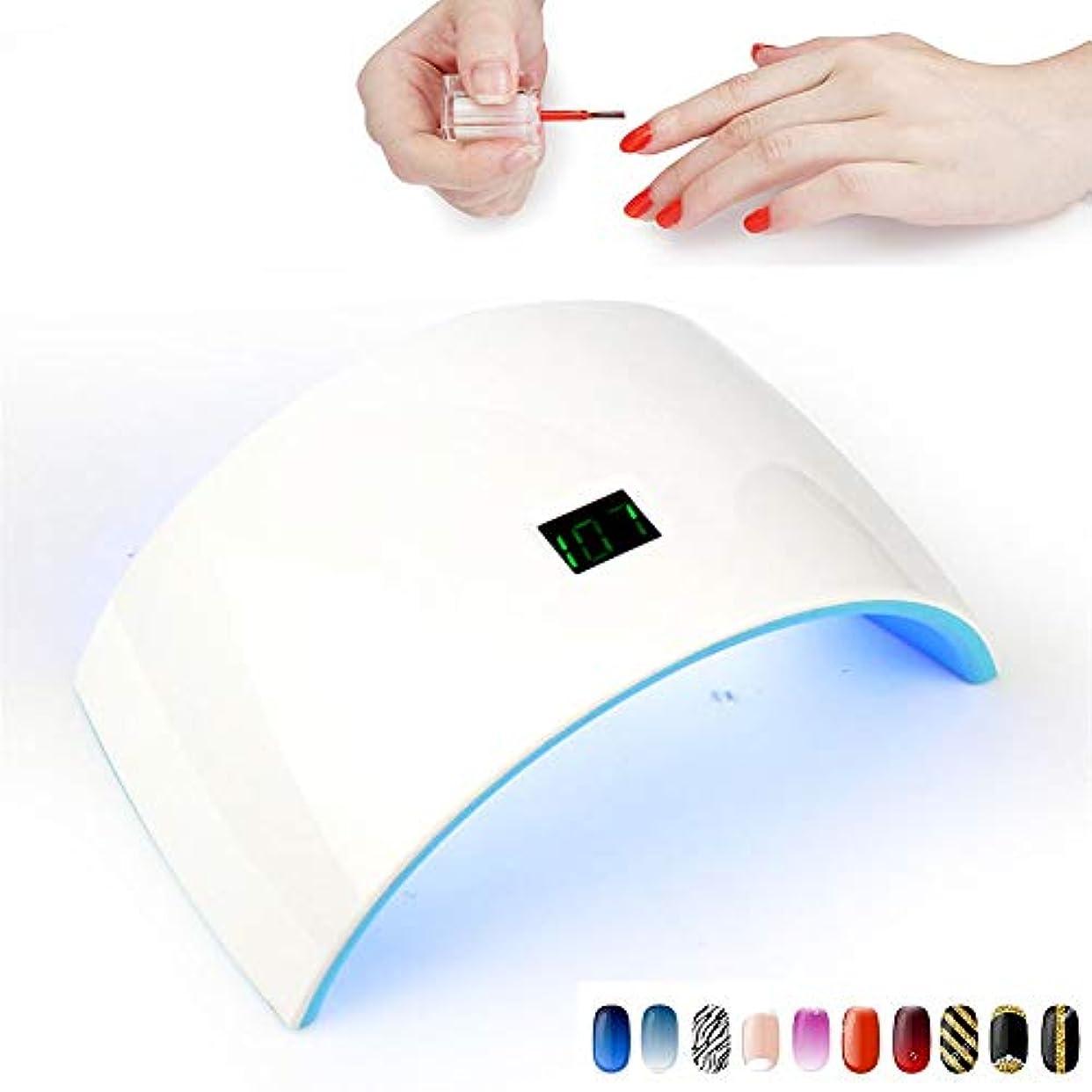 レイプアミューズ支出ネイル用ランプおよびジェルポリッシュランプ24Wドライヤー光線療法機液晶ディスプレイ付き高速硬化ジェルワニス,Charging