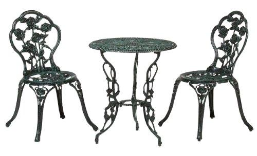 RoomClip商品情報 - タカショー テーブルセットローズ 青銅色 60φ(テーブル1台、チェアー2脚)