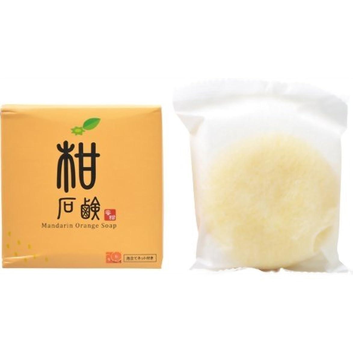 相対サイズ液化する球状柑石鹸 泡立てネット付き 80g