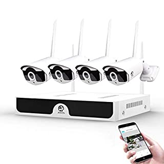 1080P Wireless Security Camera System,JOOAN 4×2MP Full HD Home Surveillance Outdoor WiFi CCTV Cameras with 4 Channel H.265 NVR & Motion Detection & Email Alarm&Super Night Vision (2019New) (B07PBT8K47) | Amazon price tracker / tracking, Amazon price history charts, Amazon price watches, Amazon price drop alerts