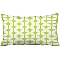 emvency枕ケースライムグリーンOutdoorsモダンパターンキング20 x 36インチ( 51 x 92 cm幾何装飾枕カバースロー枕カバークッションカバーCases One Side