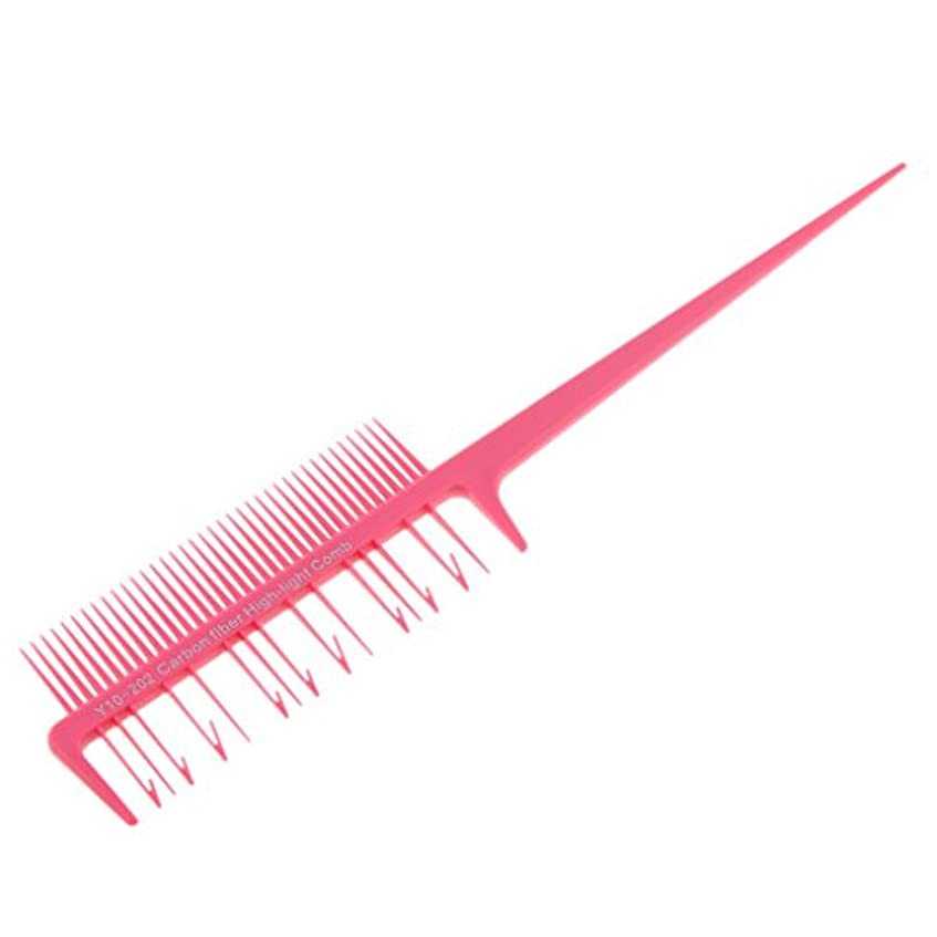 大惨事入力膿瘍SM SunniMix ヘアダイ ブラシ ヘアカラーブラシ ヘアコーム ヘアブラシ 櫛 髪染め 毛染め ツール 全4色選べる - ピンク, 説明したように