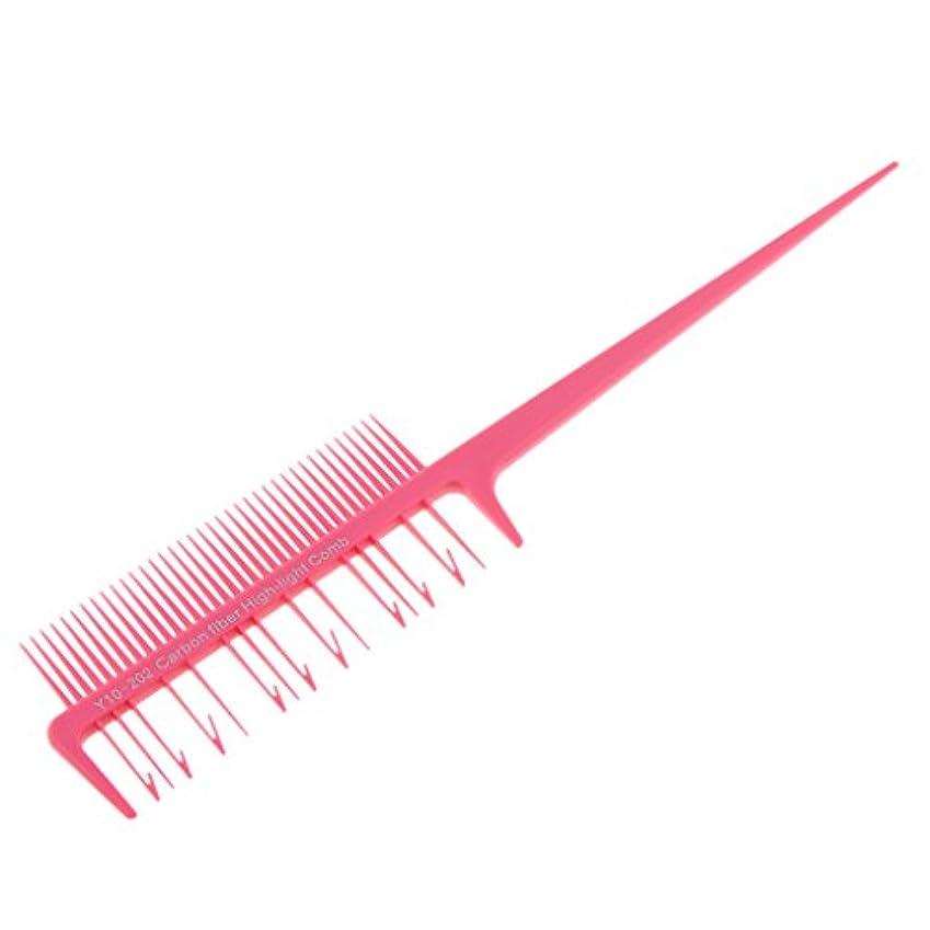 杖脅かすカールSM SunniMix ヘアダイ ブラシ ヘアカラーブラシ ヘアコーム ヘアブラシ 櫛 髪染め 毛染め ツール 全4色選べる - ピンク, 説明したように