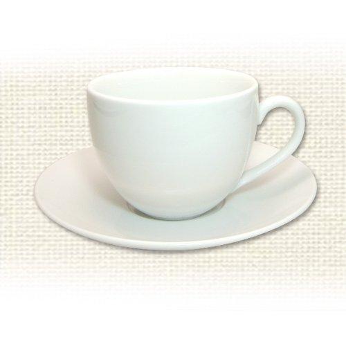 陶器モーニングカップ&ソーサー(無地)