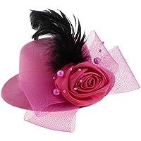 Fenteer 子供 女の子 欧風 ヘッドドレス 髪飾り ミニトップハット カクテルハット コスチューム用小物 写真用小物 全4色
