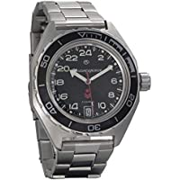 Vostok Komandirskie 650541 Automatic 24 Hour Dial Russian Military Wristwatch WR 200m