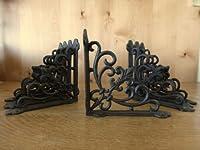 OutletBestSelling 8 ブラウンシェルフブラケット 7.5インチ アンティークスタイル 鋳鉄 フルール DE LIS フレンチクラウン