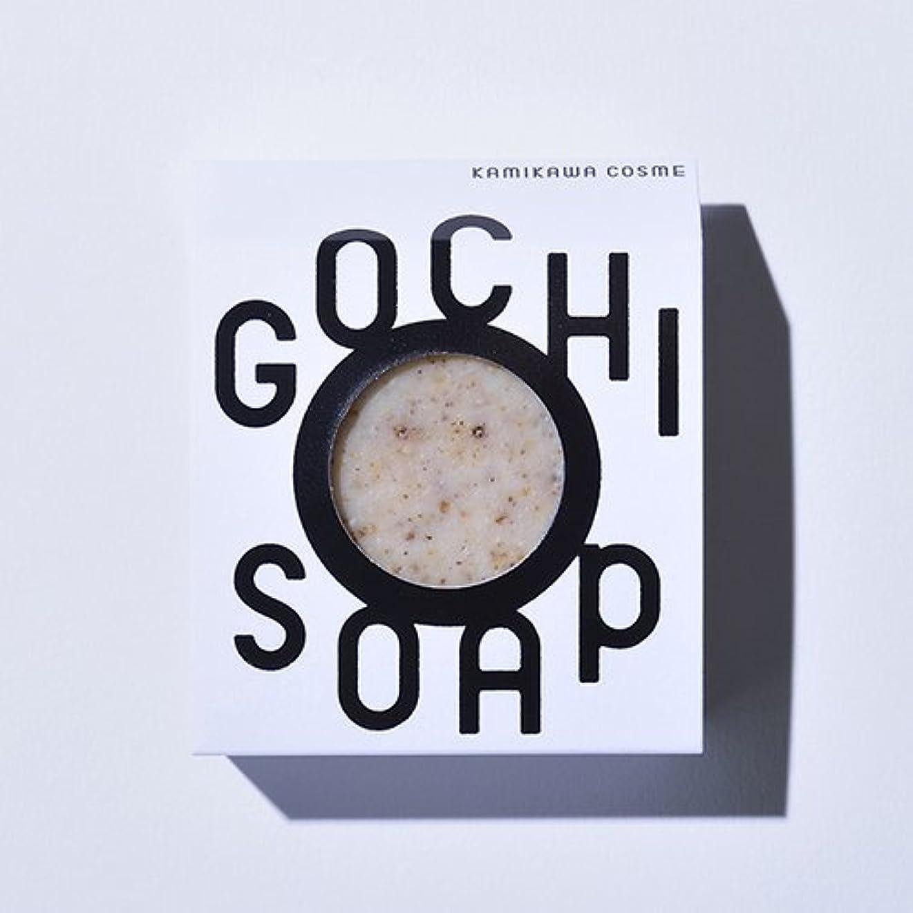コンピューターを使用する品診断するGOCHI SOAP ゴチソープ 上森米穀店の焙煎黒米ソープ