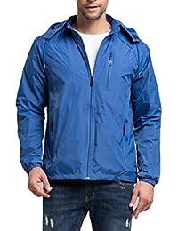 chenshiba-JP メンズパッケージ屋外防水雨ジャケットフードレインコート