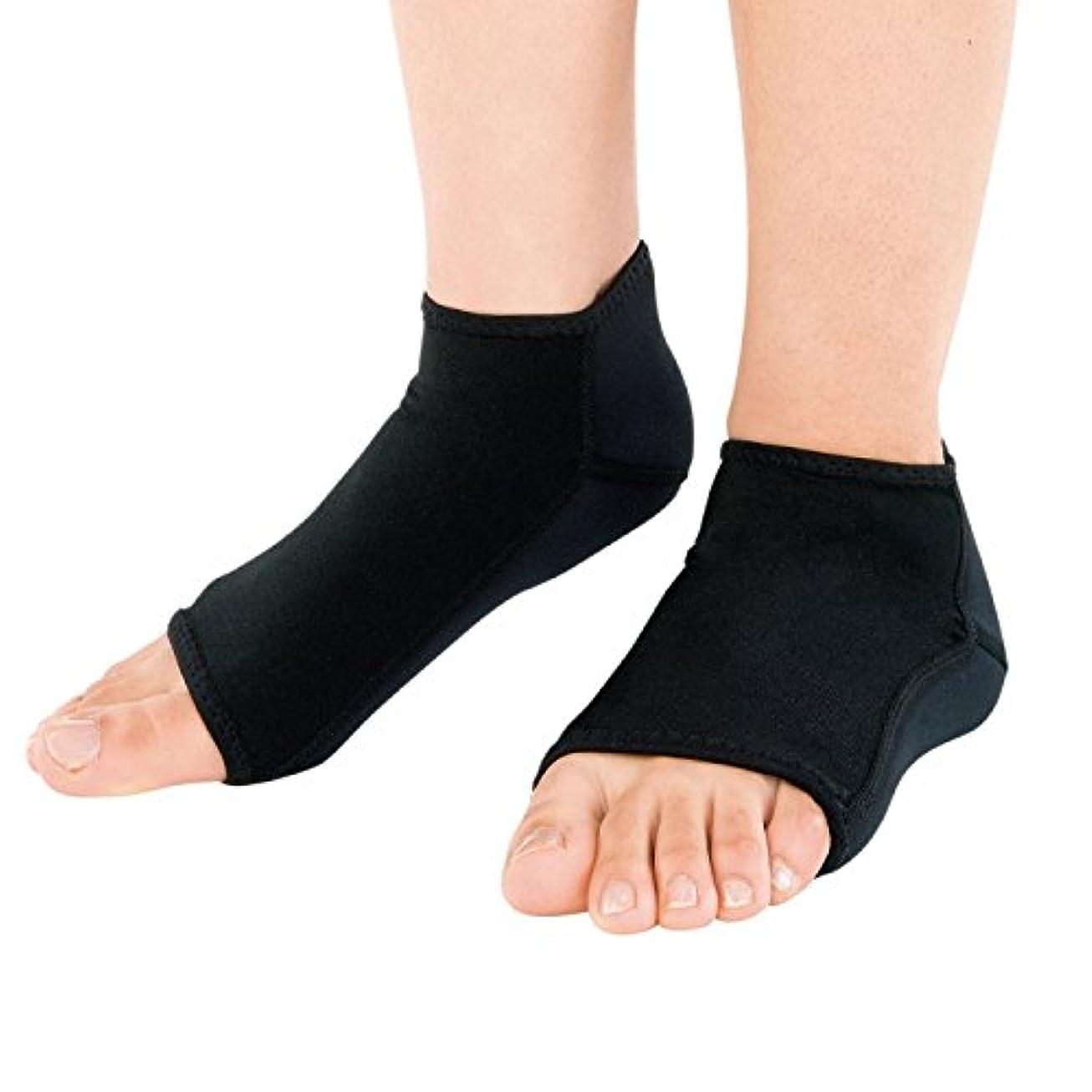 震え麻酔薬ピクニックをする靴下 かかと 保湿 チタン 素足小町 ロング
