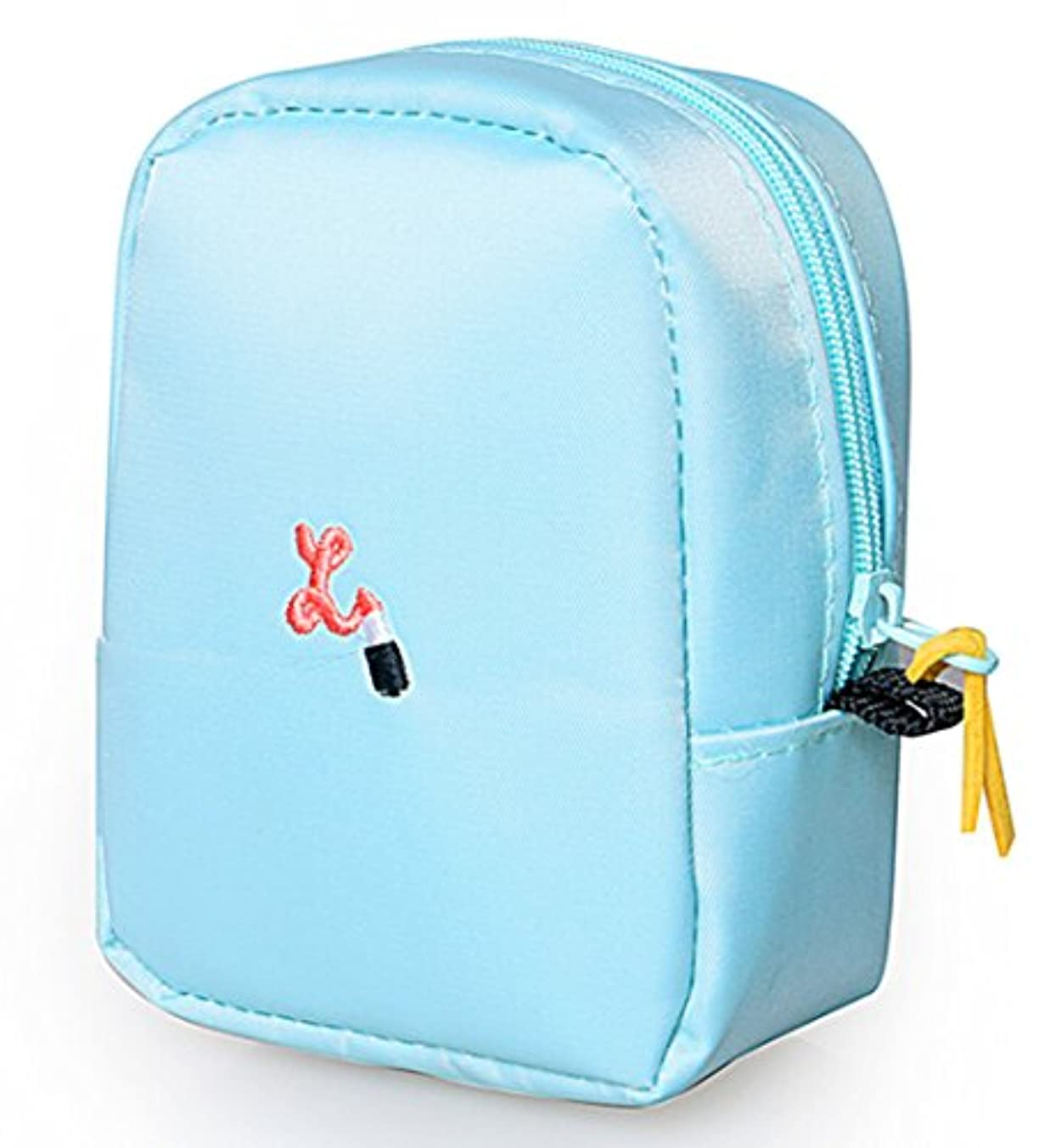 置き場抵当独創的口紅リップグロス 刺繍 ミニ ポーチ バッグインバッグ レディース 可愛い マルチポーチ お化粧 小物入れ ミニ バッグ