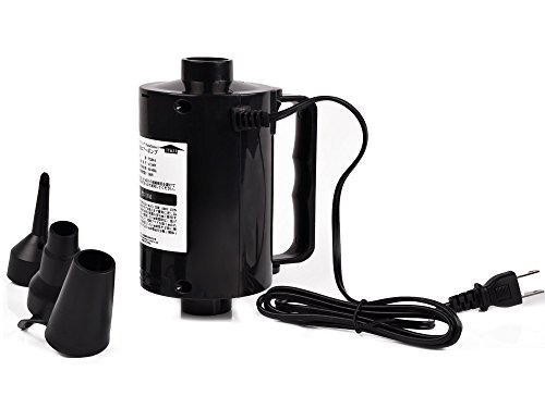 パラディニア(Paladineer)電動ポンプエアーポンプAC電源コンセントビニールプールエアーベッドアウトドア家庭用レジャー給気排気簡単便利3種類のノズル付き品質保証