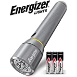 Energizer LED Tactical Metal Flashlight, Ultra Bright High Lumens, Durable Aircraft-Grade Metal Body, IPX4 Water-Resistant, 3 Modes