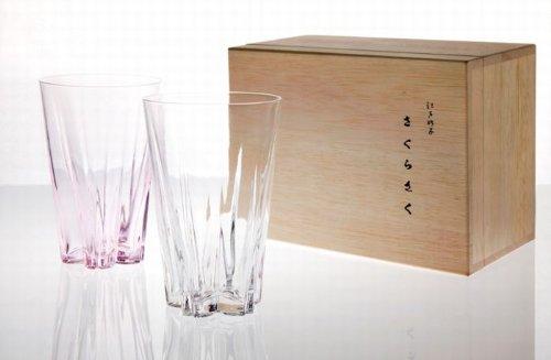 100percent SAKURASAKU glass Tumbler 紅白 2個セット