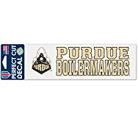 NCAA Purdue Boilermakers Stacked Perfect Cut Decal、3x 10-inch、マルチカラー