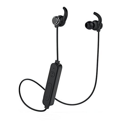 VLOXO ワイヤレス イヤホン Bluetooth 4.2 高音質 マイク付き 長時間音楽再生 ハ...