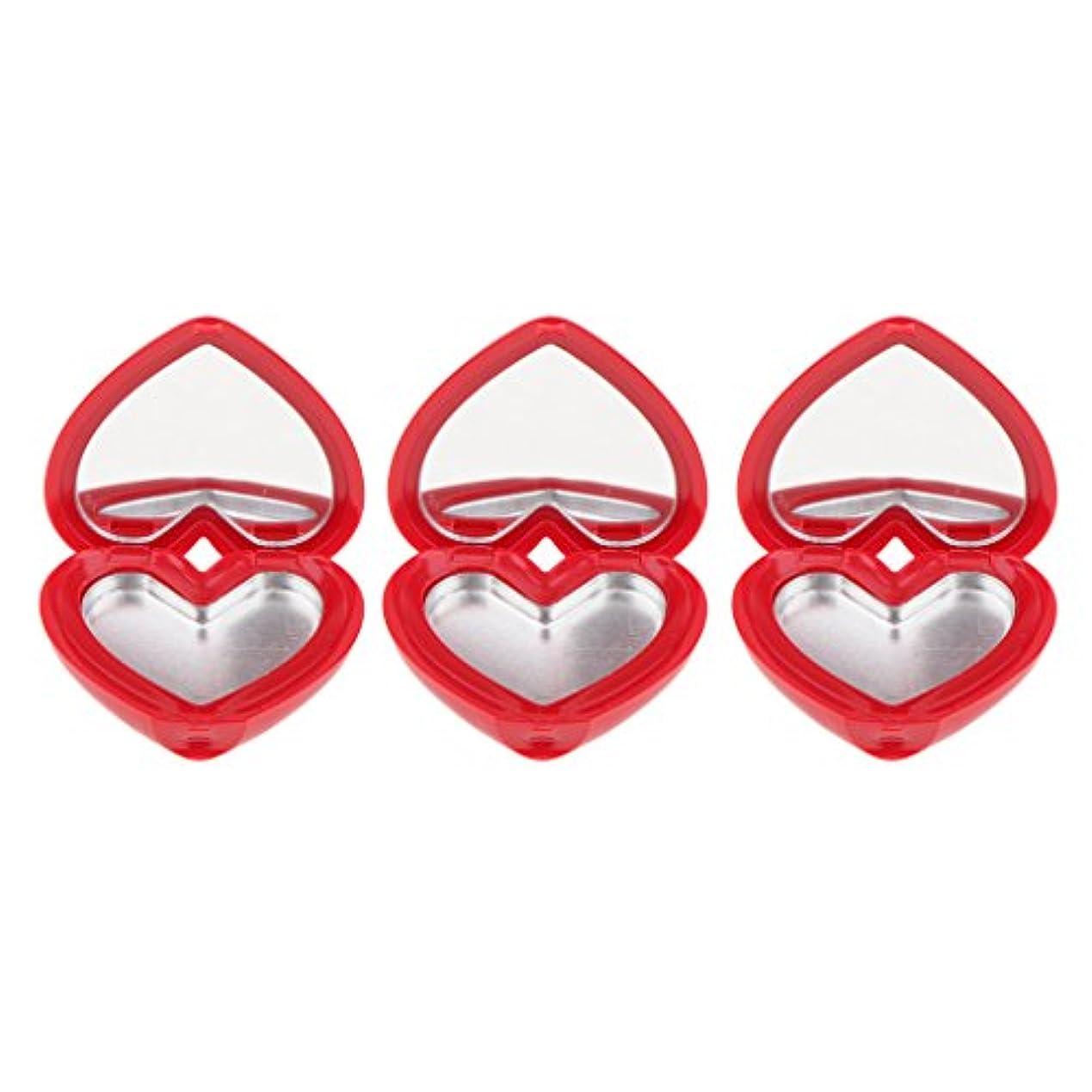 風オーバーフローかりてSM SunniMix ハート型 化粧品ケース 詰替え容器 収納ボックス 口紅 アイシャドウ 小分け 可愛い 全4色 - 赤