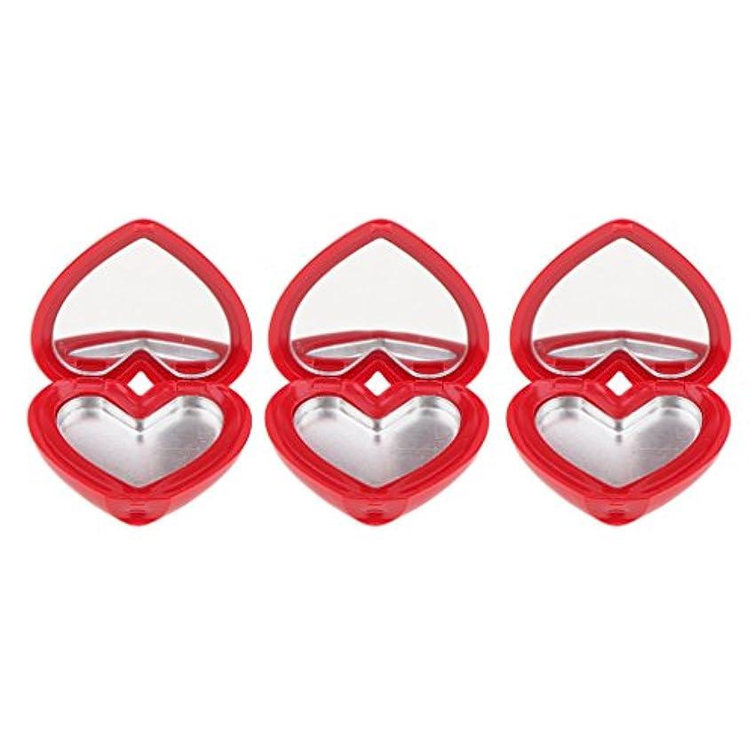 シロクマキャンプ恐れるSM SunniMix ハート型 化粧品ケース 詰替え容器 収納ボックス 口紅 アイシャドウ 小分け 可愛い 全4色 - 赤